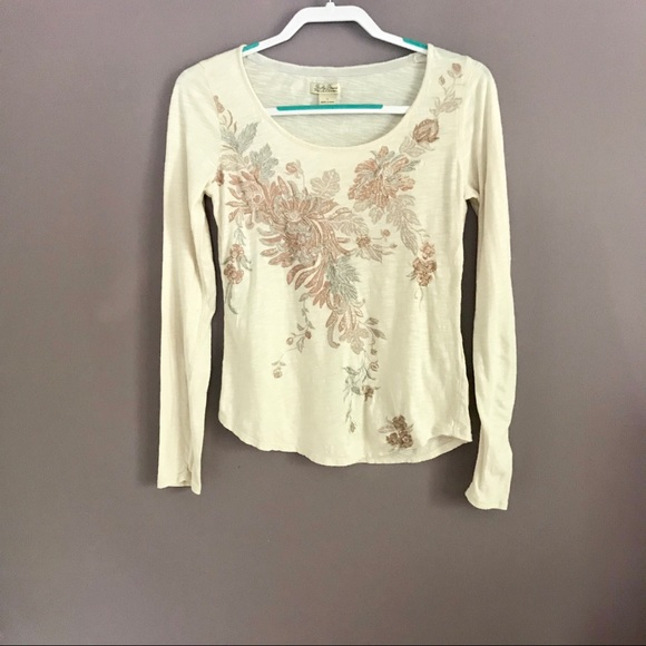 b464b4af882 Lucky Brand embroidered floral shirt